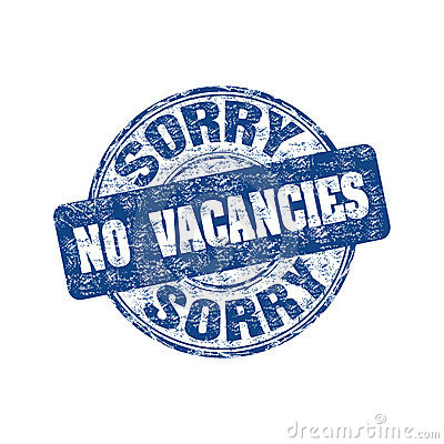 Sorry no vacancies stamp