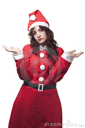 Free Sorry Santa Woman Royalty Free Stock Photography - 16307887
