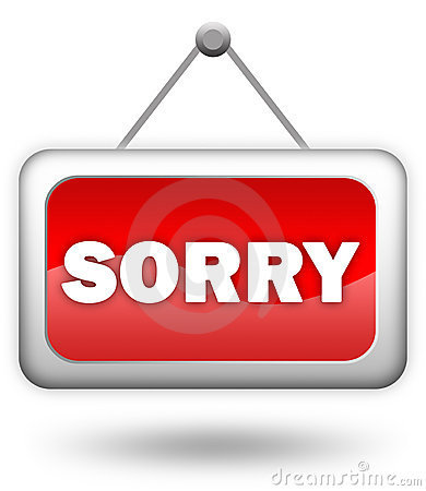 Sorry sign