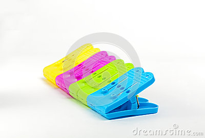 Sorted colorful clips