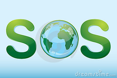 Sos with globe