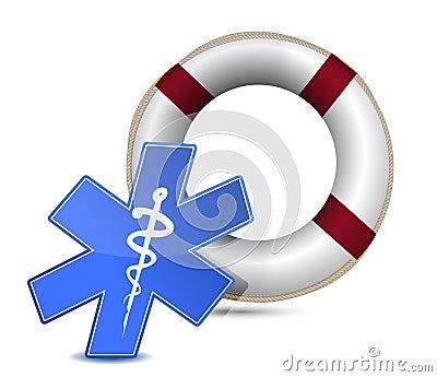 SOS medical wealth illustration design