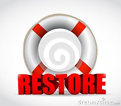 Sos restore sign illustration design