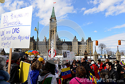 SOS Venezuela protest in Ottawa Editorial Image