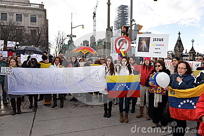 SOS Venezuela protest in Ottawa Editorial Photo