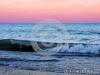 Sosta di condizione della spiaggia dell Illinois