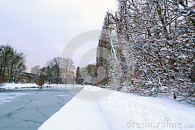 Sosta di Danzica Oliwa nell inverno