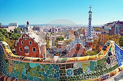 Sosta Guell, Barcellona - Spagna