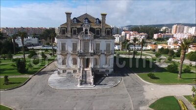 Sotto Mayor Palace in Portugal stock video