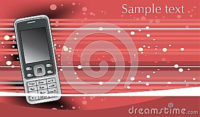 Fondo astratto con il telefono cellulare mobile