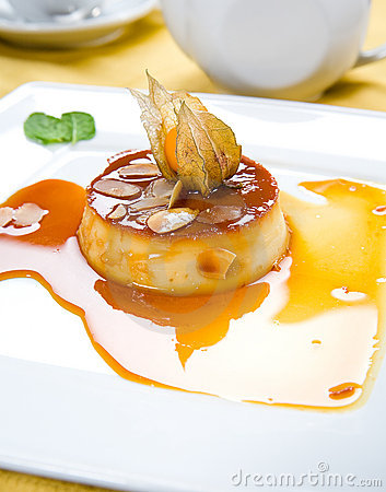 Souffle cream-caramel