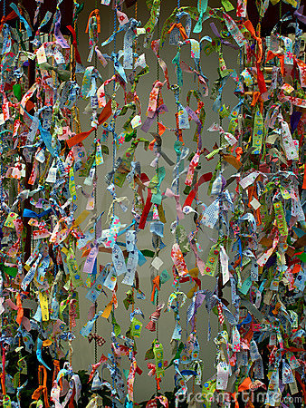 Souhaits asiatiques de papier