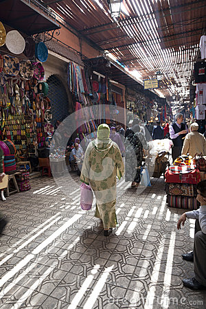 Souk in Marrakesh Editorial Stock Image
