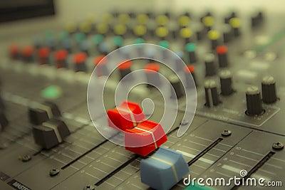 Sound control by DJ