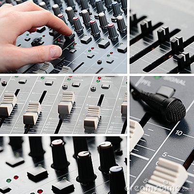 Sound Equipment Collage