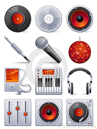 Free Sound Icon Set Stock Photography - 8559472