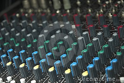 Sound mixer board knobs
