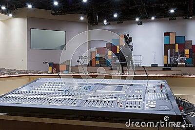 Sound Mixer at Church