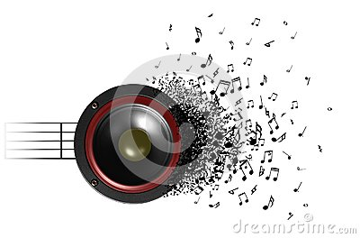 Sound of music from speaker