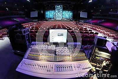 Sound system in concert
