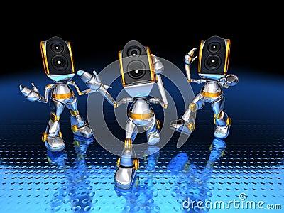 Sound system robots