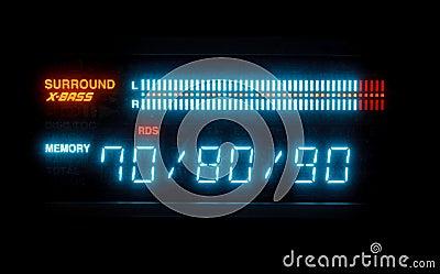 Sound volume on illuminated indicator board
