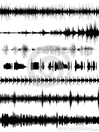 Free Sound Wave Forms Royalty Free Stock Photo - 34480575