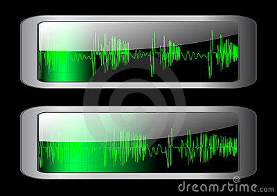 Sound wave icon. Vector 10 EPS.