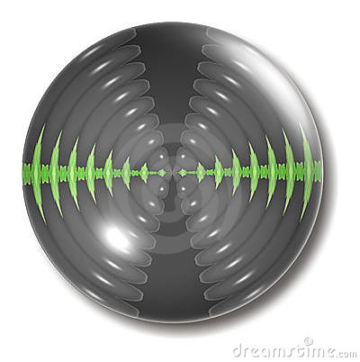 Sound Waves Button Orb