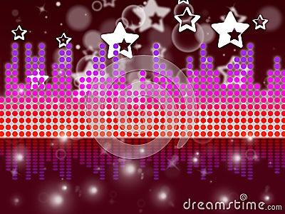 显示音乐唱歌和曲调的soundwaves背景.图片