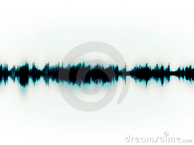 Soundwaves on white