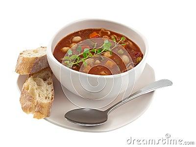 Soup bowl global view
