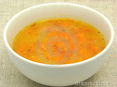 Soup with carrots and sorghum