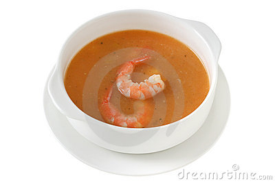 Soup with shrimps