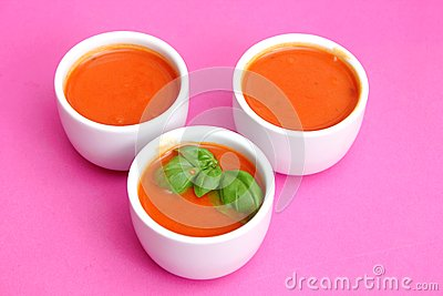 Soup of tomatoes