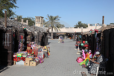 Souq in Dubai Heritage Village Editorial Stock Photo