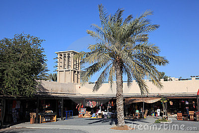 Souq in the Dubai Heritage Village Editorial Stock Photo