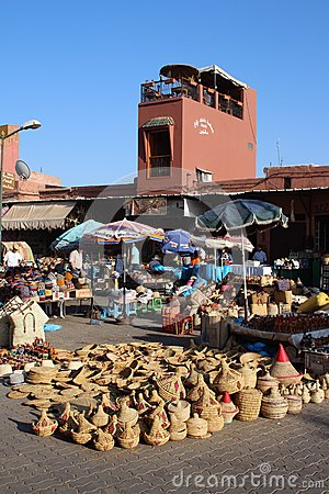 Souq in Marrakech, Morocco Editorial Image