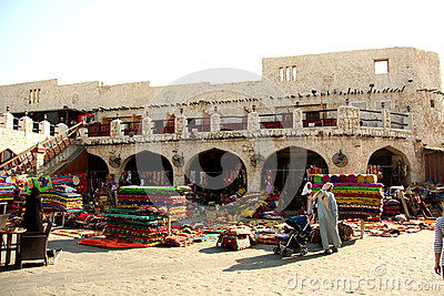 Souq Waqif in Doha, Qatar Editorial Stock Image