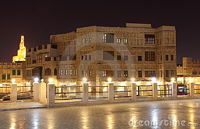Souq Waqif at night, Doha