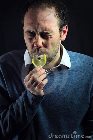 Free Sour Lemon Expression Royalty Free Stock Images - 22913199
