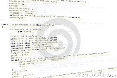 Source code background