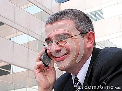 Sourire d homme d affaires