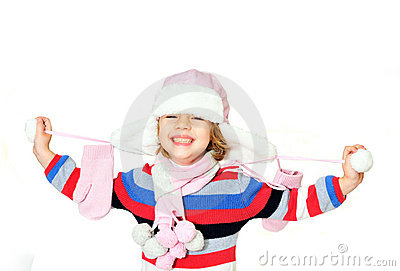 Sourire Toothy de gilr de l hiver