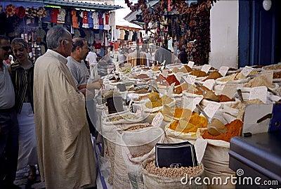 Sousse, Tunisia. Spice market.