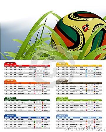South Africa 2010 Match Schedule