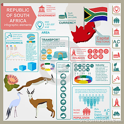 Free South Africa Infographics, Statistical Data, Sights Stock Photos - 46577353