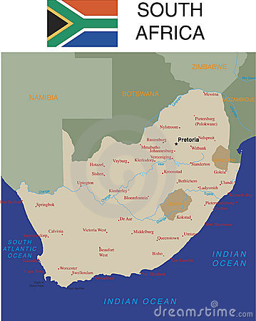 South Africa map.
