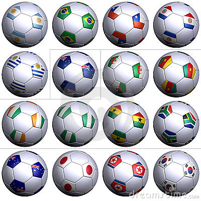 South Africa Soccer Wold Cup, second 16 nations