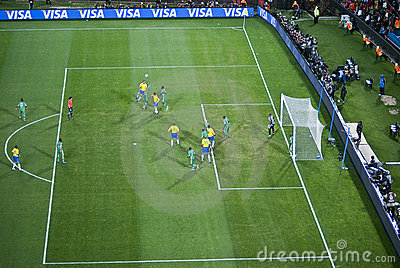 South Africa vs Brazil - FIFA Confed Cup 09 Editorial Photo